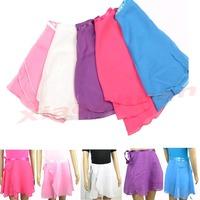 Free Shipping New Children Kids Girl Chiffon Ballet Tutu Dance Skirt Skate Wrap Scarf 5 colors