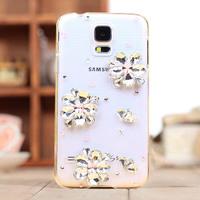 1pcs free shipping For Samsung galaxy S5 i9600 case rhinestone crystal diamond mobile phone case