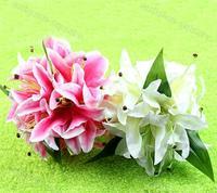 Elegant Lily Bridal Holding Flower Clutch Bouquet Bridesmaid Wedding Favor DecorFree Shipping wholesale/retail