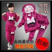 Children's clothing female child spring 2014 autumn child sports set spring and autumn baby clothes