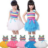 New  Arrial 2014 Summer Children Clothing Baby Girls Clothes Girl Dress Kids Tutu Dress child Children Dress