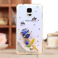 new 2014 luxury rhinestone crystal diamond Hard Back Cover Skin shell case for samsung Galaxy S5 i9600 case