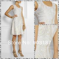 Free shipping  2014 big ladies sleeveless dress 8214