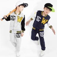 2014 spring children's clothing male child set spring and autumn baseball uniform big boy child sports set clothes