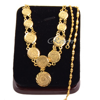1pcs Women 24K Yellow Gold Filled Link Pendant Necklace Wave Chain Jewelry E76