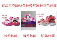 New arrival 2014 dora female child sandals girls shoes belt flasher droa flash light sandals