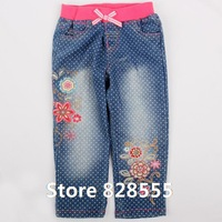 Calca Jeans Feminina Spring 2014 Baby Fashion Dit Casual Cotton Long Trousers Pants For Baby Girls Camisa Jeans Vestido Bebe