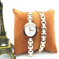 Fashion Golden Long Chain Bracelet Watch Quartz Movement Women King Girl Wrist Watch
