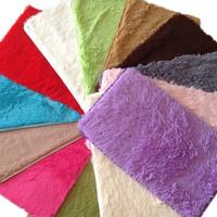 40*60cm--Fashion Living Dining Bedroom Car Flokati Shaggy  Wool Rug Anti-skid Carpet Seatmat Color Pick