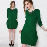 2014 spring plus size one-piece dress mm plus size one-piece dress plus size fashion loose dress