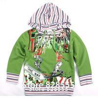Roupas Para Meninos New 2014 Spring Zipper Printing Long Sleeve Boys Hoodies & Sweatshirts For Sportwear Jacket Casaco Infantil