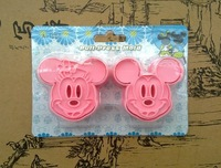 2 pcs/set Minnie Mickey Mouse Cookie Cutter Cake Fondant Mould Tools