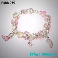Chamilia Bracelets 925 sterling silver bracelets for women Fine Chamilia beads charm bracelets jewelry free shipping PABR-030