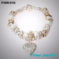 Fashion European Style Charm Bracelets 925 sterling silver bracelets for women Fine bracelets jewelry free shipping PABR-036