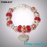 Fashion European Style Charm Bracelets 925 sterling silver bracelets for women Fine bracelets jewelry free shipping PABR-037