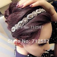Free shipping Women Fancy Beads Hair Band Trendy Retro Crystal Rhinestone Headband#5572