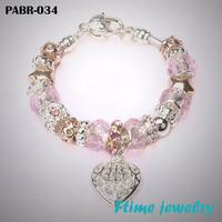 Fashion European Style Charm Bracelets 925 sterling silver bracelets for women Fine bracelets jewelry free shipping PABR-034