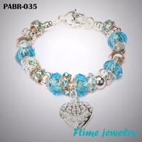 Fashion European Style Charm Bracelets 925 sterling silver bracelets for women Fine bracelets jewelry free shipping PABR-035