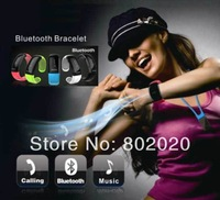 Free Ship! Bluetooth Bracelet Answer Call w/ Vibration + Mic + Speaker + Time + Cell Phone Anti-theft Free Drop Shipping White