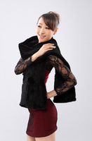 In 2014 the new luxury elegant high-grade imported mink Mao Mi knit scarf scarf shawls 20 * 180 dark brown