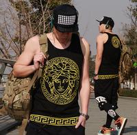 Free shipping plus size XXXL 4XL 5XL Fashion street hiphop men's clothing pure cotton vest dj sochi bosco kalenji bosco brand