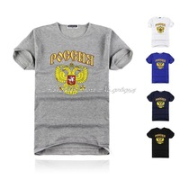 Wholesale brand Men T-Shirt,Russian eagle standard men t shirts, round neck T shirts, fashion short sleeve t shirt free shipping