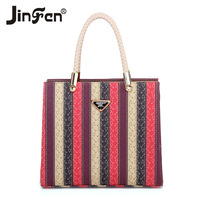 Women's handbag 2014 fashion trend fashion color block one women's portable shoulder bag