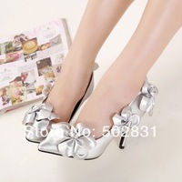 2014 sexy high-heeled shoes thin heels comfortable beautiful flower sexy pointed toe women's high-heeled shoes
