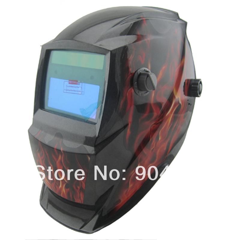 Solar li battery auto darkening MIG TIG MMA electric welding mask/helmet/welder cap for welding equipment and plasma cutter(China (Mainland))