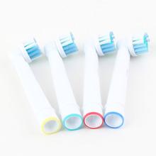 4 piezas de reemplazo de dientes eléctrico Heads - cerdas suaves SB - 17A Para Oral B Braun YKS(China (Mainland))