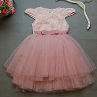 2014 New summer,girls flowers dresses,children princess dress,bow,white/pink/purple,1-6 yrs,5 pcs / lot,wholesale,1111