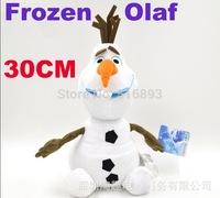 "50pcs 2014 Free EMS 30 cm 12"" Cartoon Movie Frozen Olaf snowman Plush Toys doll,PP Cotton Anna/Elsa/sven/ Olaf  Plush Toys doll"