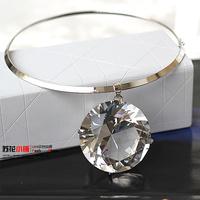 Big Grass Crystal Gem Drop Torques Choker Collar Chunky Statement Necklaces & Pendants New Fashion Jewelry Women Wholesale N68