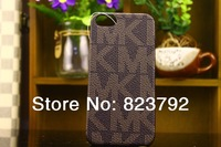 2014 hot sale Fashion brand Michaell korss leather phone case for iphone 5 5s 5g  free shipping