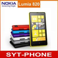 "Original Unlocked Nokia Lumia 820 Cell phone GPS WIFI 4.3"" Dual-Core 8MP Camera 8GB ROM Windows Mobile Phone Free shipping"
