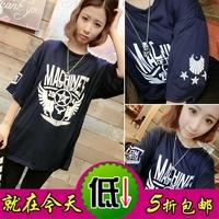 Spring 2014 letter print hiphop HARAJUKU eagle fashion baroque t-shirt short-sleeve loose  Free shipping