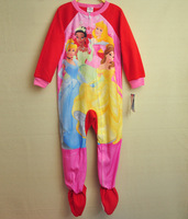 Spring snow white princess dress female child one piece sleepwear romper sleeping bag plus size big boy child flannelet