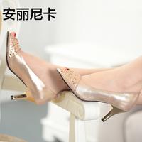 Th women's shoes 2014 spring shoes high-heeled shoes women's thin heels single shoes open toe high-heeled shoe