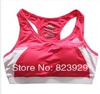 Summer Outdoor Sports Tanks Top For Women Fitness Running Tennis Bra Jogging Women Bra Top Women Yoga Vest With Padded 4 Color