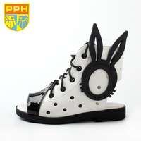 Pph child sandals female child sandals princess shoes single shoes leather hole shoes 2014 spring and summer