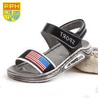 Pph shoes sandals male child sandals genuine leather child 2014