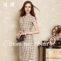 Pure silk 2014 New Fashion summer one-piece dress