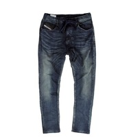 Dsl jogg faux denim jeans male water wash knitting material health pants