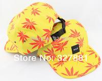 Autumn maple leaves! Adjustable men women cap snapback hat , hip hop cap wholesale hats 100%COTTON baseball CAPS