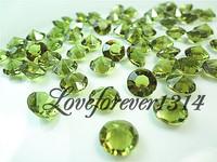 1000pcs 2Carat(8mm) Sage Green Diamond Confetti Table Scatter  Wedding Banquet Favor Favour Party Supplies Decoration