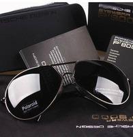 Free shipping men's classical style polarized sunglasses big frame men sunglasses driver polarizer sunglasses