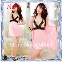 New 2014 Summer women's sexy sleepwear lounge lace spaghetti strap temptation nightgown set