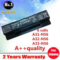 wholesale New laptop battery For ASUS  N46  N46V  N46VJ N46VM  N46VZ  N56  N56D N56V N56VJ  N76  N76V , A31-N56  A32-N56 A33-N56