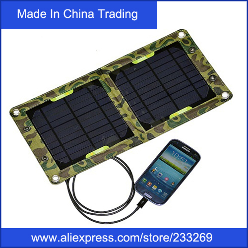 WOW!6W High efficiency outdoor solar panel charger for Mobile Phone USB Solar Battery Charger Folding solar charging bag(China (Mainland))