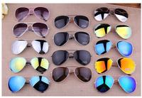 16 Colors New 2014 Fashion Vintage Coating Sunglasses Brand Designer Men Women Aviator 3025 Sun Glasses Oculos De Sol Gafas 3026